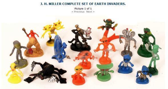 J. H. Miller Earth Invaders a.k.a. Miller Aliens - SPACEMEN FIGURES -  Alphadrome